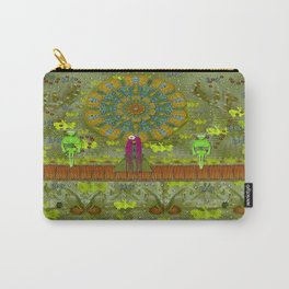 Meditative Garden got visit of lady panda and the floral skulls Carry-All Pouch