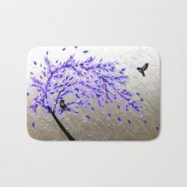 purple and gray art Bath Mat