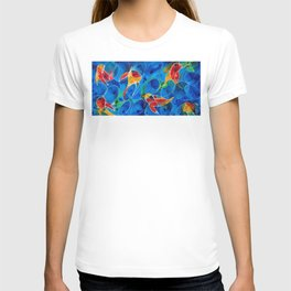 Koi Pond 2 - Liquid Fish Love Art T-shirt