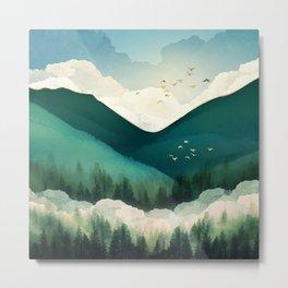 Emerald Hills Metal Print