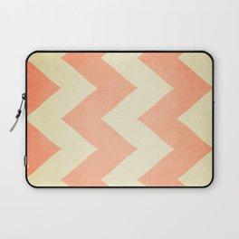 Fuzzy Navel - Peach Chevron Laptop Sleeve