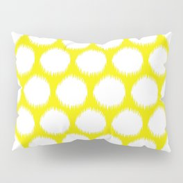 Golden Yellow Asian Moods Ikat Dots Pillow Sham