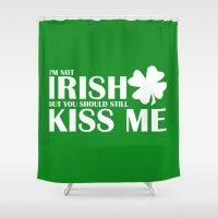 irish Shower Curtains featuring Not Irish by bitobots