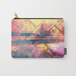 82 Abstract Pastel and Gold Carry-All Pouch