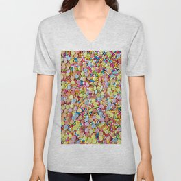 Rainbow Candy Sprinkles Unisex V-Neck