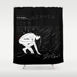nit:e:scape // android underground Shower Curtain