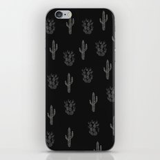 Cactus Pattern Black iPhone & iPod Skin