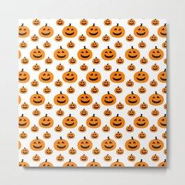 Halloween Pattern 2 Pumpkin with smile Metal Print