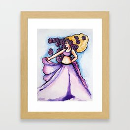 Purple Belly Dancer Framed Art Print