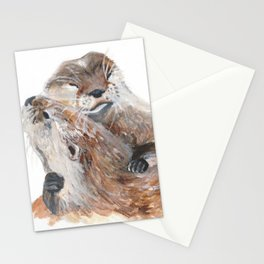 Otters in Love Stationery Cards