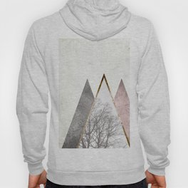 Nordic triangle geometric nature in rose gold Hoody