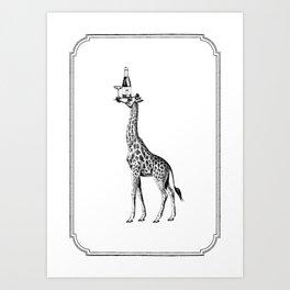 Party Giraffe Art Print
