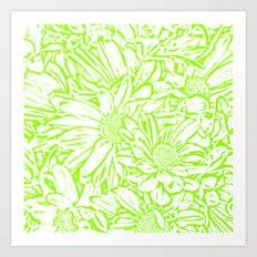 Daisy Daisy in Spring Green Art Print