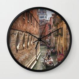Venice Canal San Marco Wall Clock