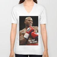 floyd V-neck T-shirts featuring Floyd #1 by YBYG