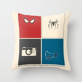 With Great Power Comes Great Responsibility Throw Pillow