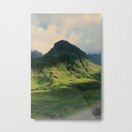 Mountain in Glencoe, Scotland Metal Print