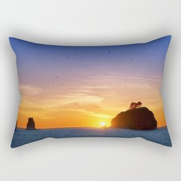 Sunset at First Beach - La Push .3 Rectangular Pillow