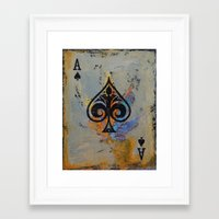 ace Framed Art Prints featuring Ace by Michael Creese