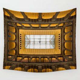 Amsterdam Shopping Center Lobby Architecture Wall Tapestry