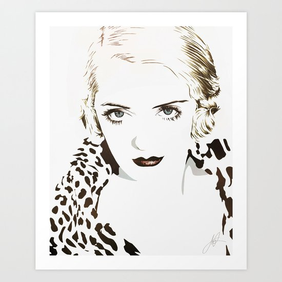 Bette Davis Art Print