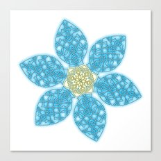 Celtic Knot Blue Flower Canvas Print