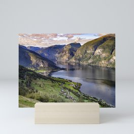 Aurlandsfjord Above Flåm - Norway Mini Art Print