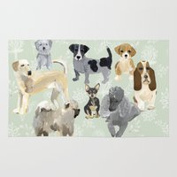 dogs Area & Throw Rugs featuring Dogs by Augustwren