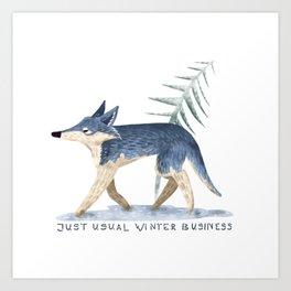 Winter business Art Print