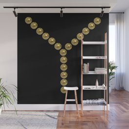 gold clips vintage fashion black edition Wall Mural