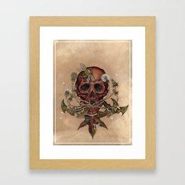 Skull with Bee Framed Art Print