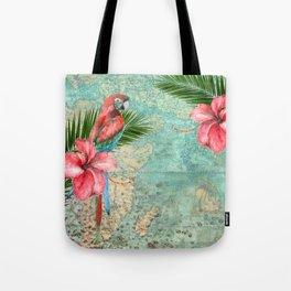 Tropical Map Tote Bag