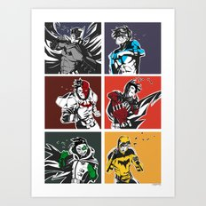 Gotham Battles: Gents Art Print