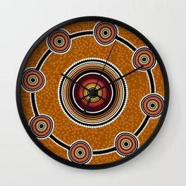 Australia Aboriginal art Wall Clock