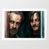 the walking dead Art Prints featuring Dead Walking by ChrisHdzArt