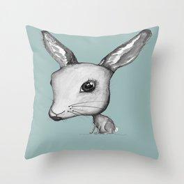 NORDIC ANIMAL - HAZEL THE HARE  / ORIGINAL DANISH DESIGN bykazandholly  Throw Pillow