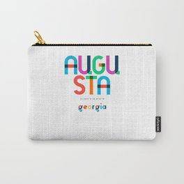 Augusta Georgia Mid Century, Pop Art, Mondrian Carry-All Pouch