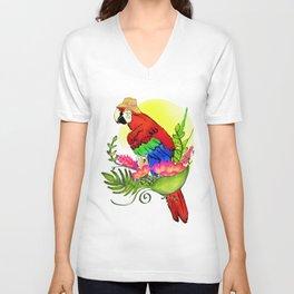 Panama Parrot in Paradise Unisex V-Neck