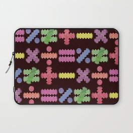 Seamless Colorful Abstract Mathematical Symbols Pattern II Laptop Sleeve