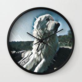 Maremma glamour shot Wall Clock