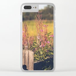 Fall Fireweed at Creamers Field, Fairbanks Alaska Clear iPhone Case