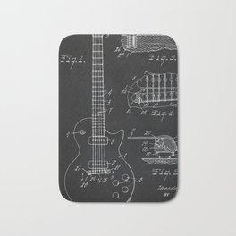 Gibson Guitar Patent Les Paul Vintage Guitar Diagram Bath Mat