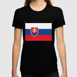 Slovakian Flag - High Quality Image T-shirt