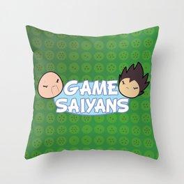 Two Saiyans Play (Game Grumps Style)  Throw Pillow