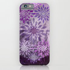 LACE AND LEATHER - Underwear Love Project Deep Purple Lace Pattern Fancy Elegant Typography Abstract Slim Case iPhone 6s