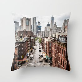 New York City Skyline (Brooklyn, Queens, Manhattan) Throw Pillow