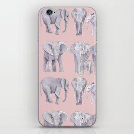watercolor elephants iPhone Skin