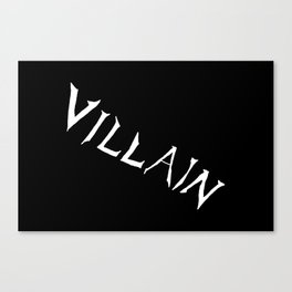 Villain in Black Canvas Print