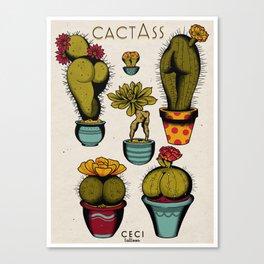 Cactass Canvas Print
