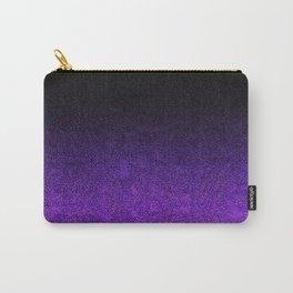 Purple & Black Glitter Gradient Carry-All Pouch